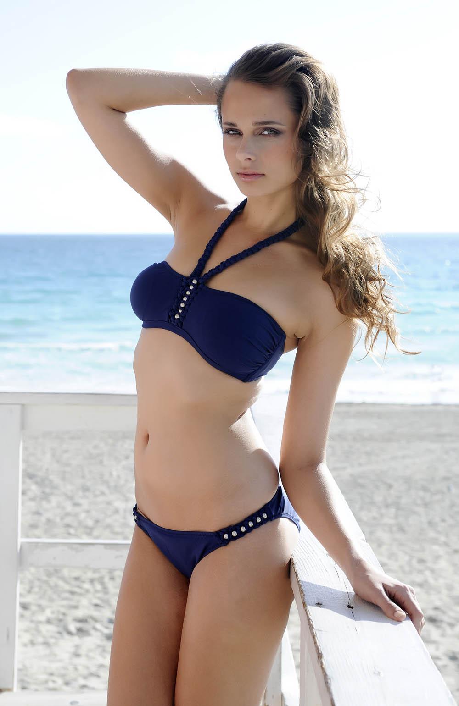 Damen Bademode - Gideon Oberson Mystical Beauty Bikini Bandeau marine  – 304-4342 / 304-5002