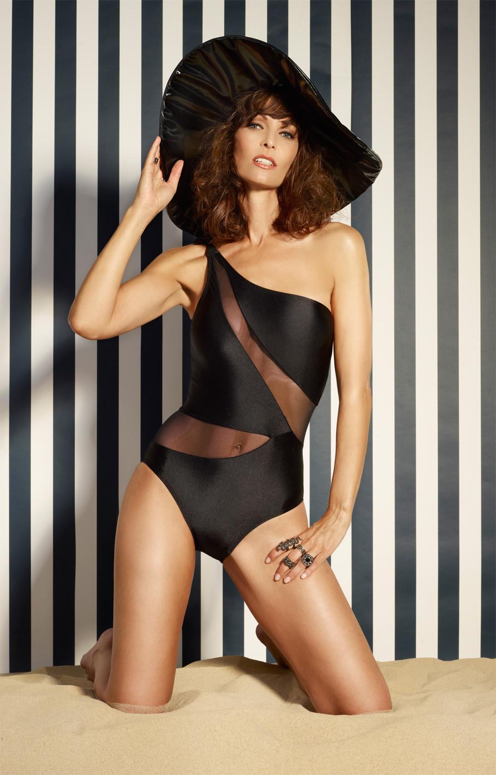 Damen Bademode - Badeanzug Swimsuit black - S1234
