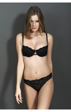 Calvin Klein Black Expansion Thong black - F3543E-001