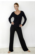 Essentials with Satin Calvin Klein Nightwear- Pyjama Pant black - S2452E-001