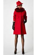 Simone Marulli - eleganter Mantel aus Schurwolle in rot - CP004