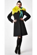 Simone Marulli - eleganter Mantel aus Schurwolle in schwarz - CP004