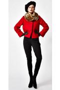 Simone Marulli - elegante Outdoor Designer-Jacke aus Schurwolle in rot - GI006