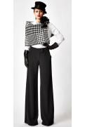 Simone Marulli - elegante Designer Hose in schwarz - PN001