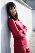 Simone Marulli - edle Bluse/Sweatshirt langarm in rot - BL003