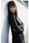 Simone Marulli - edle Bluse/Sweatshirt langarm in schwarz - BL003