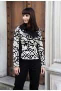 Simone Marulli - Designer Jacke Jacquard schwarz/weiss - GI099